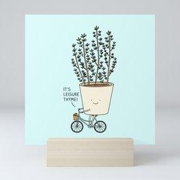 leisure time Mini Art Print