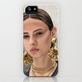 The girl with the shell earrings iPhone Case
