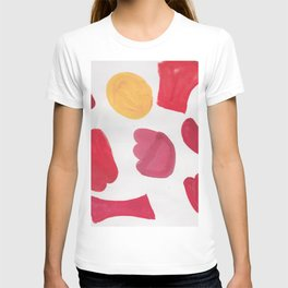 37  | 190408 Red Abstract Watercolour T-shirt