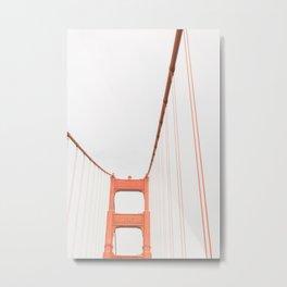 On the Golden Gate Bridge Metal Print
