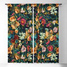 Floral Pattern Winter Garden Blackout Curtain