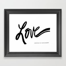made with love Framed Art Print