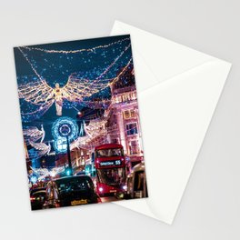 London Christmas Lights (Color) Stationery Cards