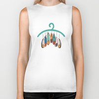 feather Biker Tanks featuring Feather by kartalpaf