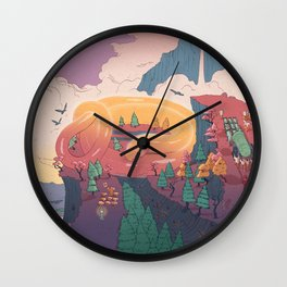 The creature of the mountain Wall Clock