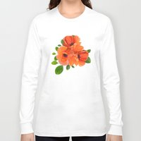 poppies Long Sleeve T-shirts featuring Poppies by Heaven7