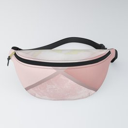 Geometric Nude Watercolor Marble Fanny Pack