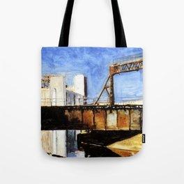 Railway Bridge Five Roses reflected II Tote Bag