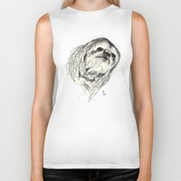 sloth Biker Tanks featuring Sloth by Ursula Rodgers