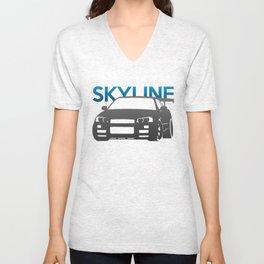 Nissan Skyline GT-R  Unisex V-Neck