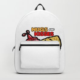 NUGS AND KISSES Romantic Fastfood Love Present Backpack