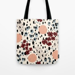 Cheetah Floral Tote Bag