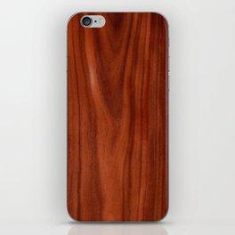 Beautiful red wood design iPhone Skin