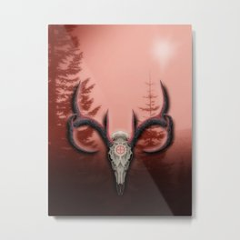 Warm Horns Metal Print