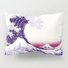 The Great wave purple fuchsia Pillow Sham