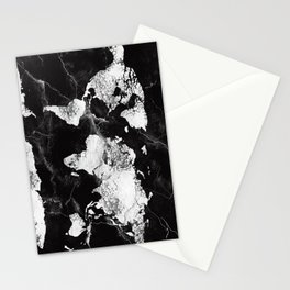 world map marble 4 Stationery Cards