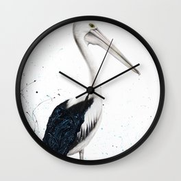 Beach Pelican Wall Clock