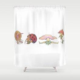 Fungi Faeries Shower Curtain