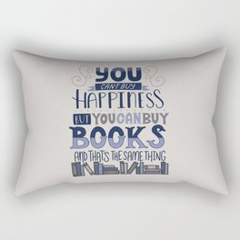 Happiness and Books Rectangular Pillow