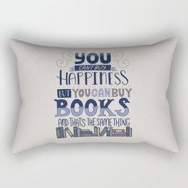 Happiness and Books Rectangular Pillow