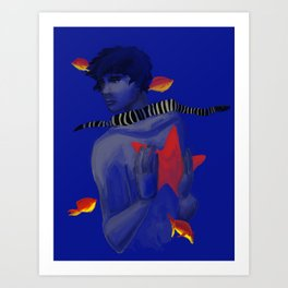 With the Fishes Art Print
