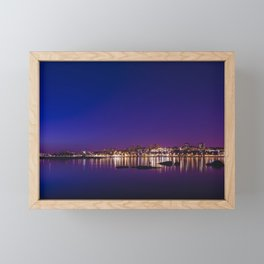 Porto by Night. Framed Mini Art Print