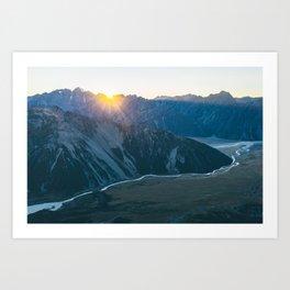 Hooker Valley Sunrise Art Print