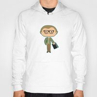 woody allen Hoodies featuring Woody Allen by Sombras Blancas Art & Design