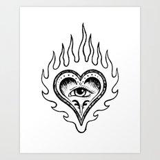 Sacred Heart Art Print