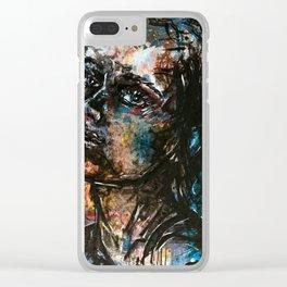 Dark portrait Clear iPhone Case