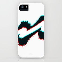 Zig zag black and white pahagh iPhone Case
