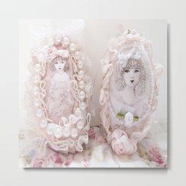 Pretty Easter Eggs Metal Print