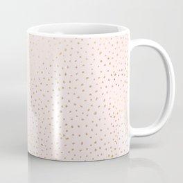 Dotted Gold & Pink Coffee Mug