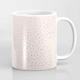 Dotted Gold & Pink Coffee Mug