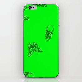 Green Skulls iPhone Skin