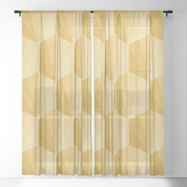 Gisela Color Block Pattern XVI Sheer Curtain