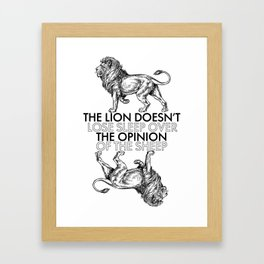 Lion and the Sheep Framed Art Print