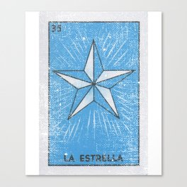 La Estrella Mexican Loteria Bingo Card Canvas Print