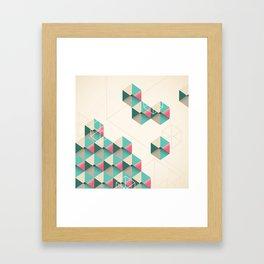 Empty cubes Framed Art Print