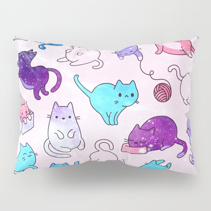 Space Cats Pattern Pillow Sham