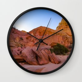 Colorful Sandstone, Valley of Fire - III Wall Clock