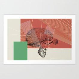 HUMAN RACE / BRAIN Art Print