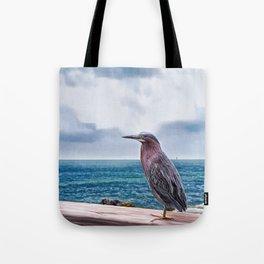 Key West Green Heron -  Photo painting Tote Bag