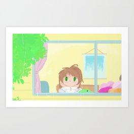 Nostalgic rain Art Print