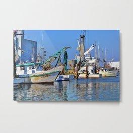 Galveston Fishing Boats Metal Print