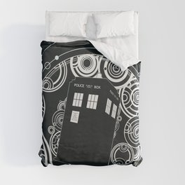 Negative Time and Space - Doctor Who inspired Duvet Cover