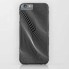 Minimal curves black iPhone 6s Slim Case