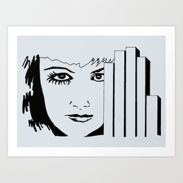Took My Hands Off of Your Eyes Too Soon (B/W) Art Print