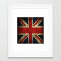 british flag Framed Art Prints featuring British flag by Beauti Asylum