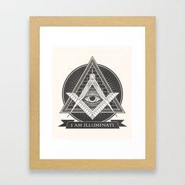 I am illuminati Framed Art Print